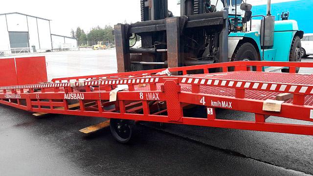 Rampa mobile di carico AUSBAU-PRO8-HR-2SL